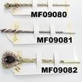 women ladies crystal stone pearl metal hair pin 7