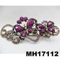 women crystal stone butterfly metal hair clips 4