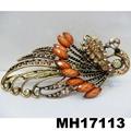 women crystal stone butterfly metal hair clips 5
