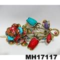 women crystal stone butterfly metal hair clips 6