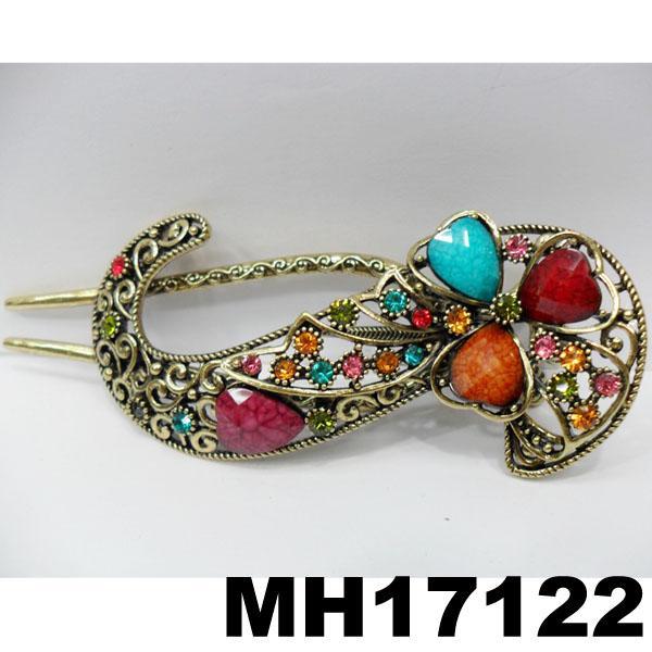 women crystal stone butterfly metal hair clips 8