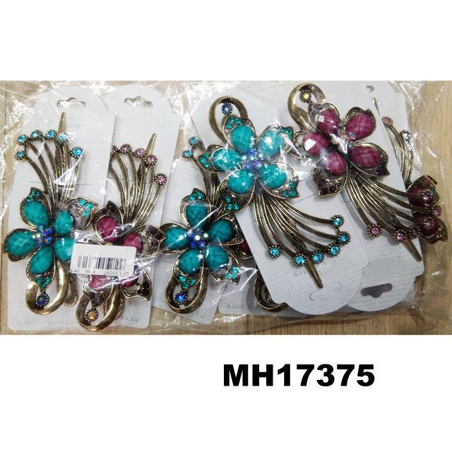 women crystal stone butterfly metal hair clips 10