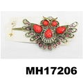 women crystal stone owl metal hair clips