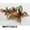 women crystal stone owl metal hair clips wholesale 2