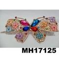 women crystal stone owl metal hair clips wholesale 3