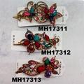 women crystal stone owl metal hair clips wholesale 4