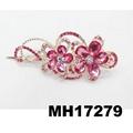women antique crystal stone flower metal beak concord hair clips 3