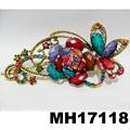 women antique crystal stone flower metal beak concord hair clips 5