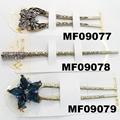fashion women crystal stone u shaped metal hair clips 2