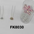 fashion women crystal stone u shaped metal hair clips 5