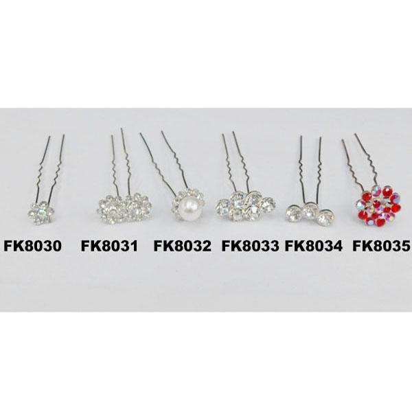 fashion women crystal stone u shaped metal hair clips 7