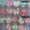 wedding bridal crystal pearl flower u shaped metal hair clips pins wholesale 2
