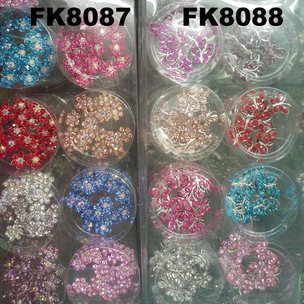 wedding bridal crystal pearl flower u shaped metal hair clips pins wholesale 6