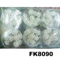 wedding bridal crystal pearl flower u shaped metal hair clips pins wholesale 7