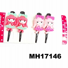 baby girl kids resin black metal beak hair clips wholesale