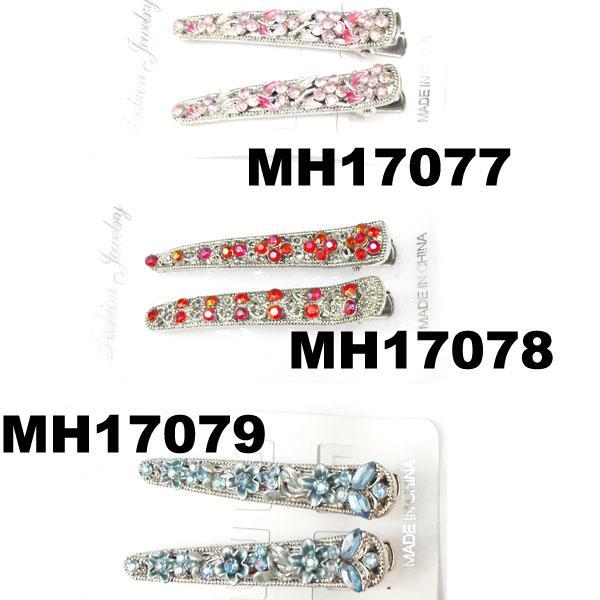 women kids crystal stone flower metal beak concord hair clips wholesale 2