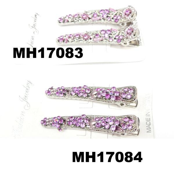 women kids crystal stone flower metal beak concord hair clips wholesale 3