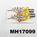 women kids crystal stone flower metal beak concord hair clips wholesale 4
