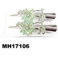 women kids crystal stone flower metal beak concord hair clips wholesale 5