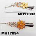 women kids crystal stone flower metal beak concord hair clips wholesale 7