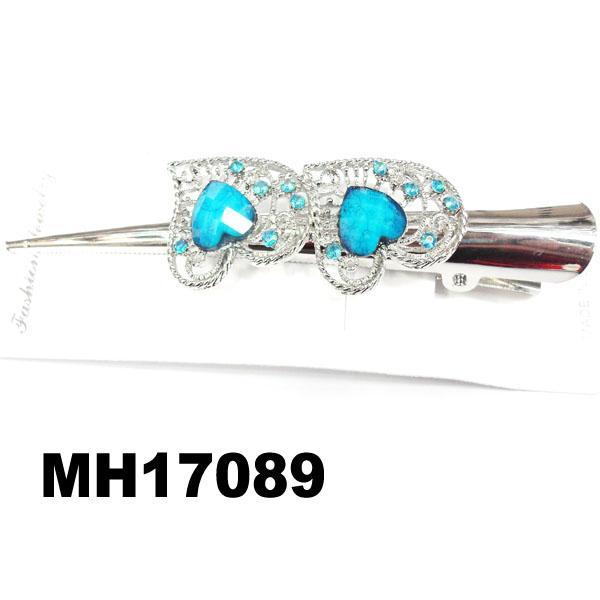 women kids crystal stone flower metal beak concord hair clips wholesale 8