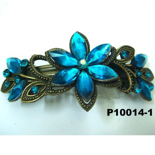 women antique crystal stone metal barrettes wholesale 4