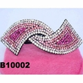 women antique long crystal stone leaf french barrette clip 7