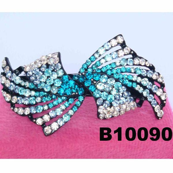 fashion women glitter crystal stone hair barrette 1