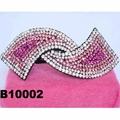 fashion women glitter crystal stone hair barrette 2
