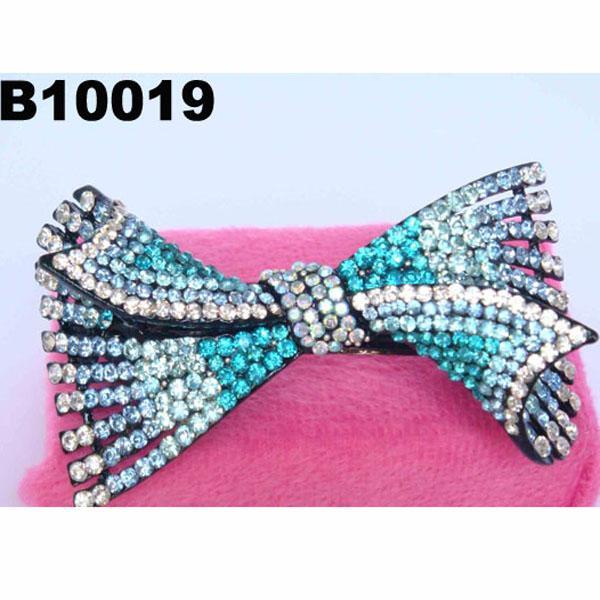 fashion women glitter crystal stone hair barrette 3
