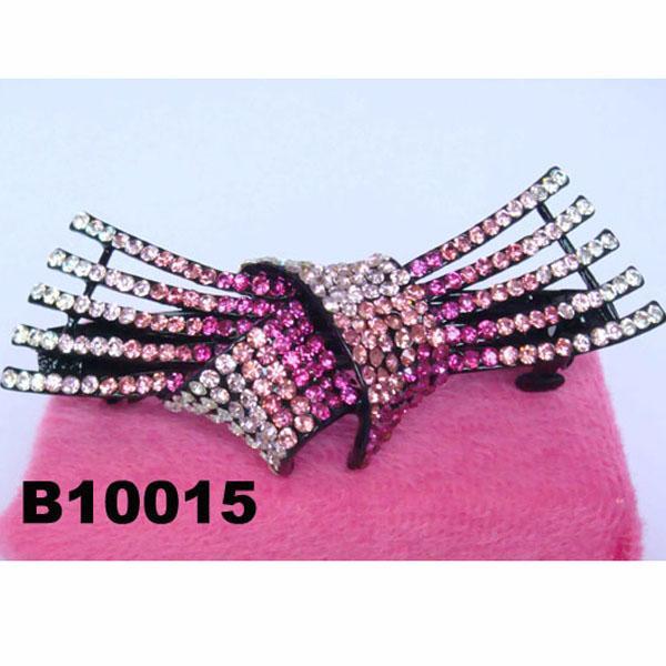 fashion women glitter crystal stone hair barrette 4