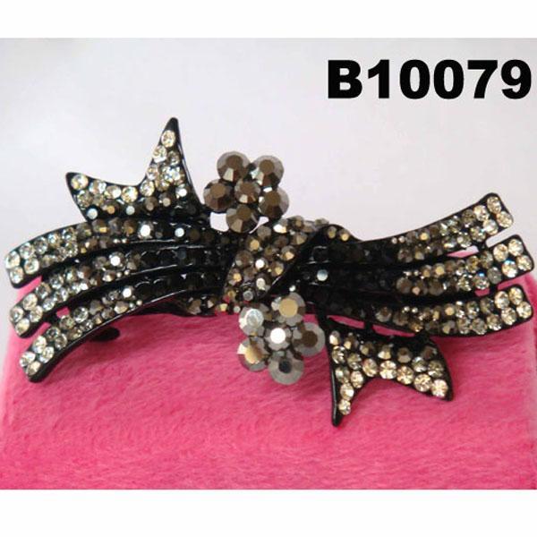 fashion women glitter crystal stone hair barrette 5