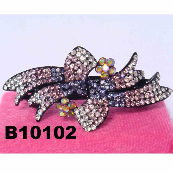 fashion women glitter crystal stone hair barrette 6