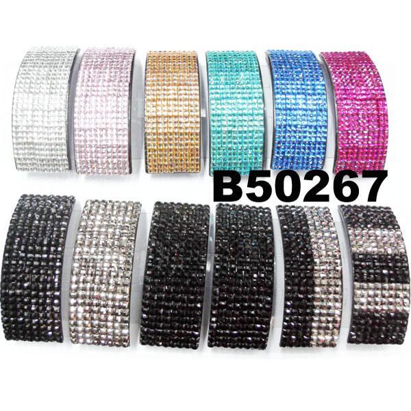 fashion women glitter crystal stone plastic hair barrettes wholesale 4