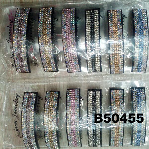 fashion women glitter crystal stone plastic hair barrettes wholesale 6