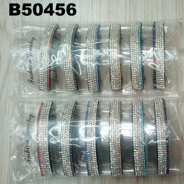 fashion women glitter crystal stone plastic hair barrettes wholesale 7