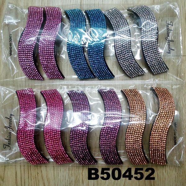 fashion women glitter crystal stone plastic hair barrettes wholesale 8