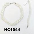 fashion women statement pearl bracelet earring necklace set