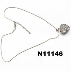 girls crystal heart charm pendant necklace wholesale