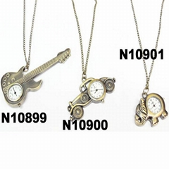 cute antique car elephant violin clock pendant metal necklace