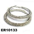 fashion women crystal stone hoop earrings wholesale