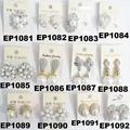 fashion women ladies crystal pearl stud earrings wholesale