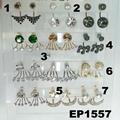 fashion glitter crystal stone zircon footprint stud earrings wholesale