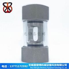304不鏽鋼內螺紋空心管式水流指示器