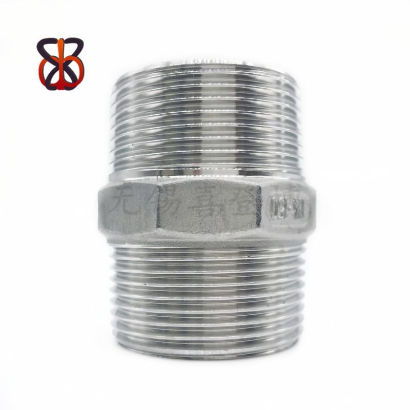 304不鏽鋼六角對絲管件 1