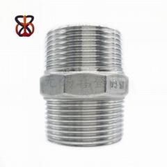 304不锈钢六角对丝管件
