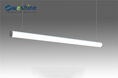 Office LED Linear Light suspension, mounting, recessed installation