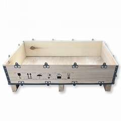 collapsible 6pcs plywood box with steel strip
