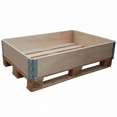 wooden pallet box collapsible wooden box