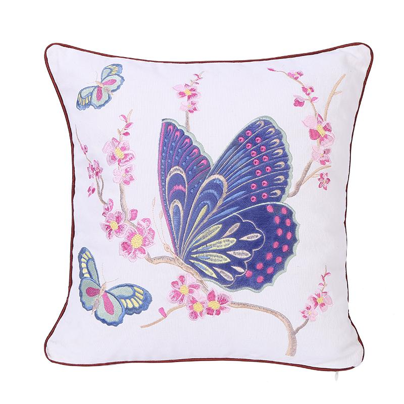 繡花繡片抱枕 4